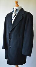 """Men's Navy Blue Wool & Cashmere Blend Burton Coat Size Chest 40""""."""