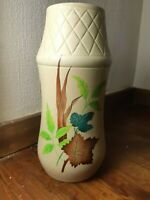 VINTAGE RETRO 1930s ELLGREAVE POTTERY TOPAZ VASE 11 INCHES HIGH ww24a