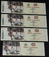 2005 - MONTREAL CANADIENS vs LOS ANGELES KINGS - BELL CENTER - TICKETS (4)
