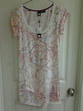 "DC Shoes Juniors girls Mini Short sleeve cotton Dress ""DeVine"" size Medium, NWT"