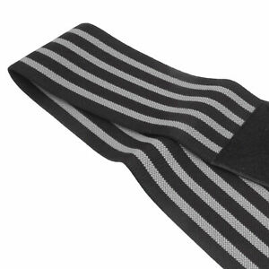 Compression Bandage Elastic Elbow Enfold Support Protective Cover(Grey Stripe)