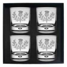 Art Pewter Ferguson Clan Crest Whisky Glass Set of 4 WG 4-C23
