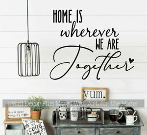 HOME WHEREVER WE ARE TOGETHER TRAVELERS VINYL WALL DECAL FOR CAMPER RV DECOR