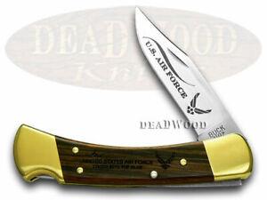 Buck 110 Folding Hunter Air Force Ebony Wood 1/500 Pocket Knives