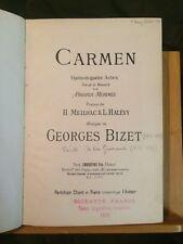 Bizet Carmen L'arlésienne partition chant piano 1 volume relié Choudens