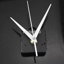 Quartz Wall Clock Movement Mechanism Repair Part Set White Spindle Long Hands US