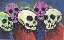 3395-Award winning artist George Kocar Digital Drawing, Group of Skulls