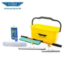 Ettore Compact Window Cleaning & Washing Starter Kit w/ Long Handle+ 2 Squeegees