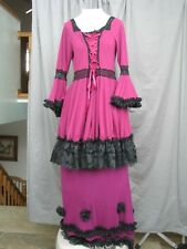 Victorian Dress Edwardian Costume Colonial Two Piece Outfit