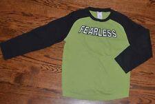 GYMBOREE BOYS SIZE 6 GREEN BLACK FEARLESS HALLOWEEN SHIRT