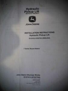 2002 John Deere Hydraulic Pickup Lift Installation Instructions Balers E127413