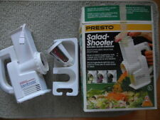 Presto Electric Salad Shooter w/slicer & shredder Vintage '80s orig. box/booklet