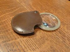 Vintage ATCO 2 inch Magnifying Glass with Leather Case