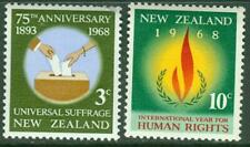 New Zealand. 1968. Human Rights. Set. MUH.