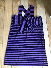 Sonia Rykiel Púrpura Y Negro Rayas Vestido Talla Xl-usado una vez