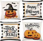 4PCS Halloween Decorations Throw Pillow Covers 18x18in Farmhouse Cover for Sofa