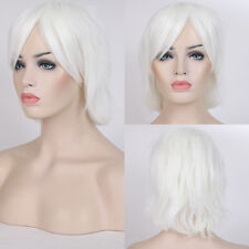 Multi Color Short Straight Hair Wig Anime Party Cosplay Full Halloween Dress Hh