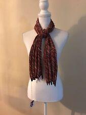 "NWT Sophie Digard Handmade Chevron Crochet Scarf~Warm Colors~ 54X 12"" /138X 31cm"