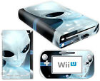 Nintendo Wii U Skin Design Foils Sticker Screen Protector Set - Alien Motif