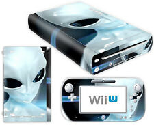 Nintendo Wii U Skin Design Foils Aufkleber Schutzfolie Set - Alien Motiv