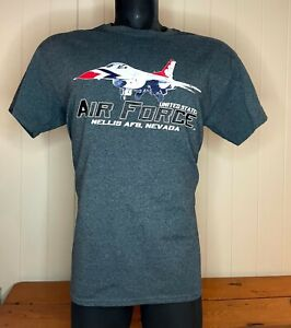 US Air Force T-Shirt - Nellis Air Force Base Nevada shirt - USAF - Large Ex Cond