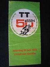 Flyer TT Assen 50 Jaar, zaterdag 28 juni 1975 Circuit van Drenthe (TTC)