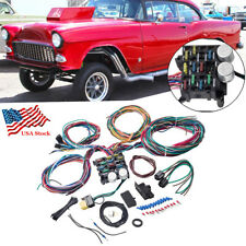 12 Circuit Line Fuse Wiring Harness Kit For Ford Chevy Hot Rod Rat Car Truck Usa
