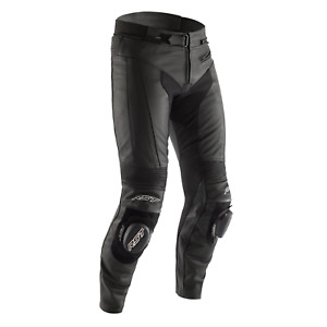RST R-Sport Leather Riding Jeans - CE APPROVED - Short Leg - Black/Black