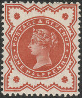 1887 JUBILEE SG197 1/2d BROWN ORANGE UNLISTED SHADE MINT HINGED