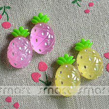 10PCS Mixed  Pineapple Resin Flatback Cabochon For Craft Decoration 2.5X2.5cm