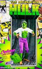 The Incredible Hulk Costume Child's Dxl 3Pc Jumpsuit Latex Muscle Chest & Mask L