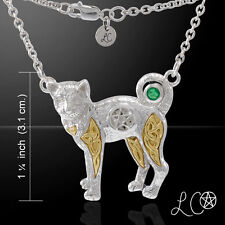 Celtic Sacred Cat Pentacle .925 Sterling Silver Necklace by Peter Stone Jewelry