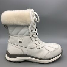 UGG Adirondack III Quilt Waterproof Leather Snow Boot 1098556 Quilted White