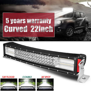 "Quad-Row 22inch Cree Curved LED Light Bar Combo Beam Offroad Truck VS 20""24""26"""