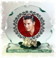 "Collectable Elvis Presley ""the King"" Cut Glass Photo Plaque Edition  #3"