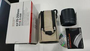 Canon 70-200mm f2.8L IS Box and accessories only! No Lens!