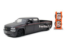 JADA 1:24 JUST TRUCKS 99 CHEVY SILVERADO DUALLY PICK UP CUSTOM MATTE GRAY 97301