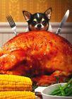 Avanti funny greeting card Thanksgiving dog puppy turkey gratitude and gravy photo