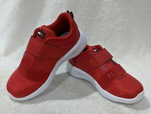 Tommy Hilfiger Toddler Boy's Cadet Strap Red Sneakers - Size 9/10 NWB