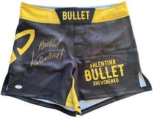Valentina Shevchenko autographed signed inscribed custom trunks UFC PSA COA