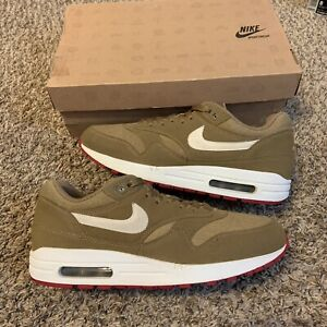 Nike Air Max 1 Kelp Brown White Red 2011 Sneakers Size 8.5