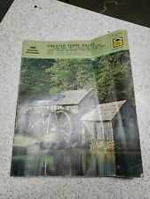 1974 GTE TERRE HAUTE, INDIANA  YELLOW PAGES & WHITE PAGES  ADVERTISING