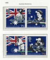 S2868) UK Great Br. 1988 MNH Australian Bi-Centenary 4v, Joint Issue Australia