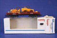 Marklin HO Scale Gondola Car w/ Construction Vehicles Load 4474