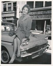 VIRGINIA MAYO Original CANDID 1950s Ford Auto Sedan Vintage Warner Bros. Photo