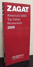 ZAGAT Americas 1000 Top Italian Restaurants 2008 Guide Book Food Wine Pictures
