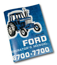 FORD 6700 7700 TRACTOR OPERATORS OWNERS MANUAL BOOK MAINTENANCE ADJUSTMENTS LUBE