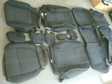 Ford F 250 350 Super Duty factory black cloth seat covers