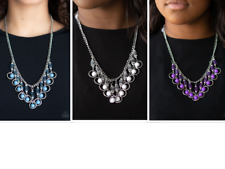 Paparazzi COOL CASCADE Blue White Purple necklace sets