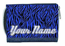 Zebra Print Personalizado Bolso del dril de algodón Azul Excelente Para Damas/Niñas de llamado Regalo/presente